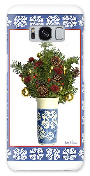 Snowflake Vase With Christmas Regalia Galaxy Case by Lise Winne