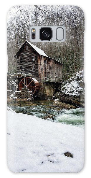 Snowing At Glade Creek Mill Galaxy Case