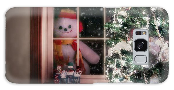 Scarf Galaxy Case - Snowman At The Window by Tom Mc Nemar