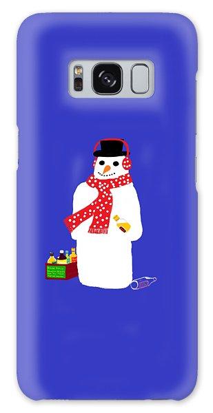 Snowman Galaxy Case by Barbara Moignard