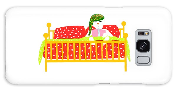 Snowman Bedtime Galaxy Case by Barbara Moignard