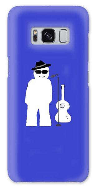 Snowman Musician Galaxy Case by Barbara Moignard