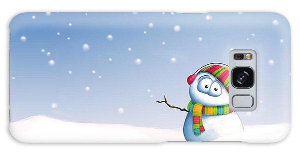 Scarf Galaxy Case - Snowman by Tooshtoosh