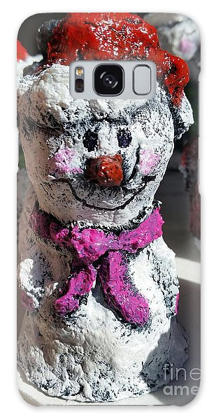 Snowman Pink Galaxy Case by Vickie Scarlett-Fisher