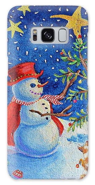 Snowmas Christmas Galaxy Case by Li Newton