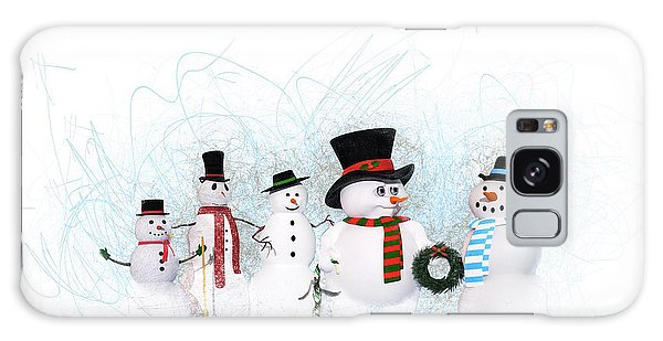Snowmen Galaxy Case by Methune Hively