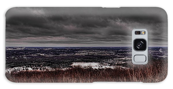 Snowstorm Clouds Over Rib Mountain State Park Galaxy Case
