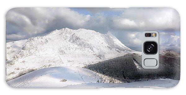 snowy Anboto from Urkiolamendi at winter Galaxy Case
