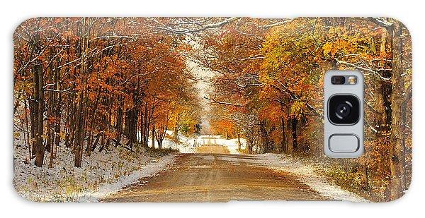 Snowy Autumn Morning In Pure Michigan Galaxy Case