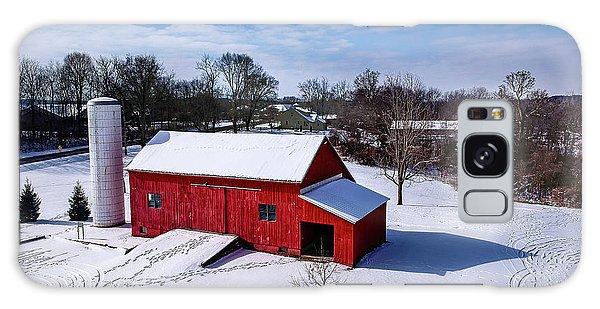 Snowy Barn Galaxy Case
