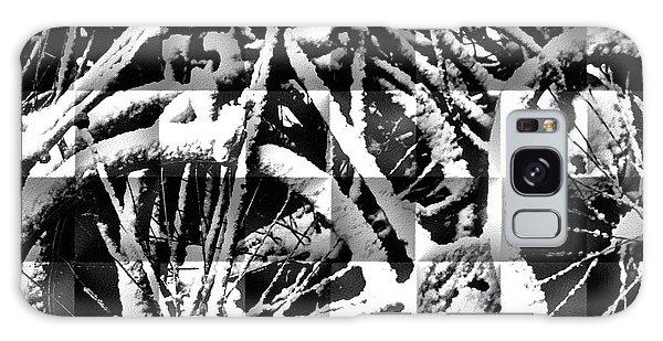 Snowy Bike Galaxy Case by Joan Reese