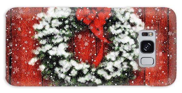 Snowy Christmas Wreath Galaxy Case