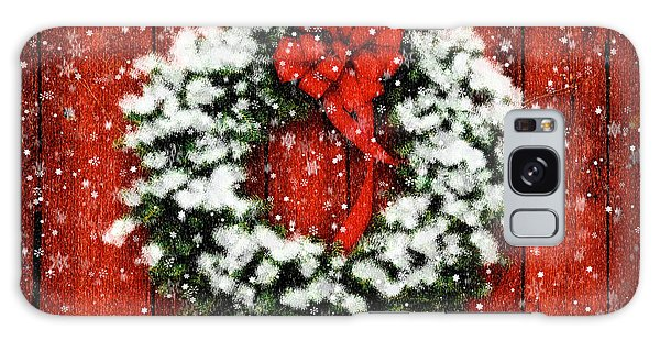 Snowy Christmas Wreath Galaxy Case