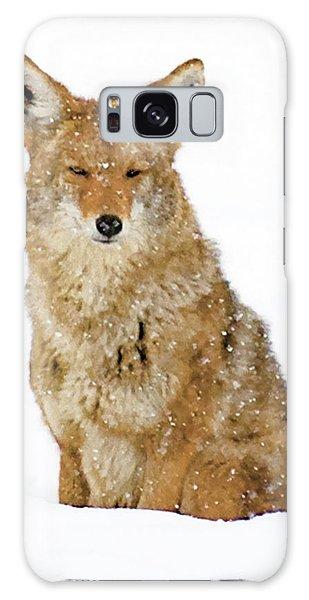 Snowy Coyote Galaxy Case