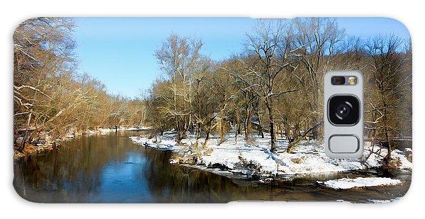 Snowy Creek Morning Galaxy Case