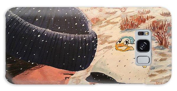 Snowy Day With My Dad Galaxy Case