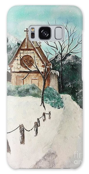 Galaxy Case featuring the painting Snowy Daze by Denise Tomasura