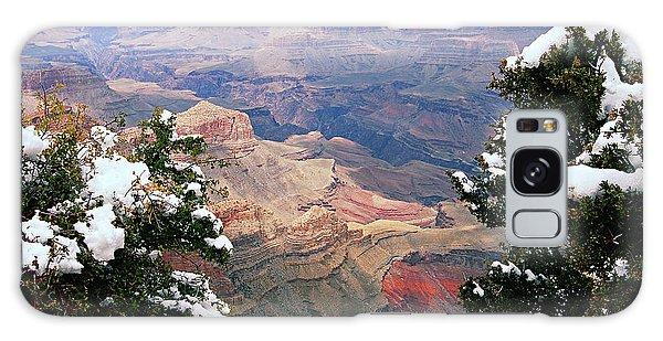 Snowy Dropoff - Grand Canyon Galaxy Case by Larry Ricker