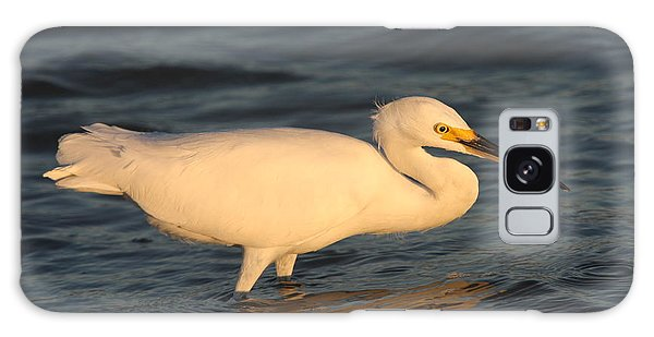 Snowy Egret By Sunset Galaxy Case by Christiane Schulze Art And Photography