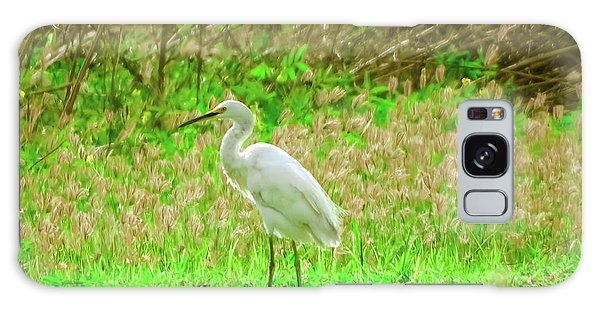 Snowy Egret  Galaxy Case