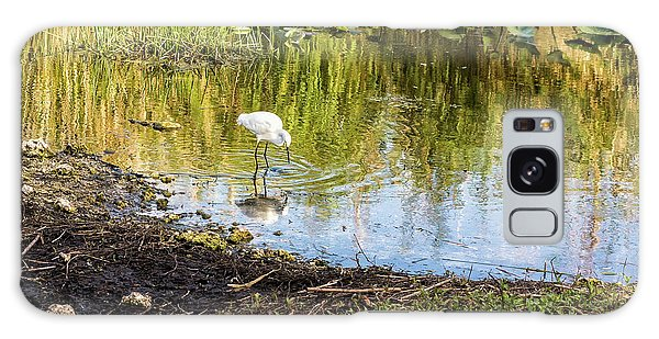 Snowy Egret Reflections Galaxy Case