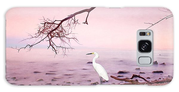 Egret Galaxy Case - Snowy Egret Solitude by Laura D Young