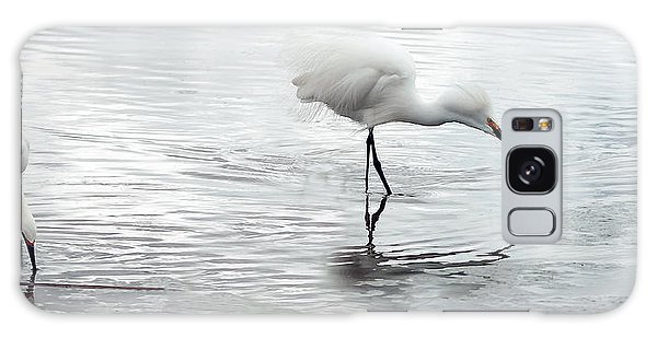 Snowy Egrets Galaxy Case