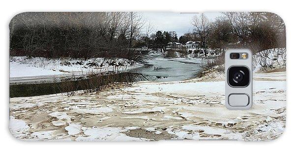 Snowy Elk Rapids River Galaxy Case
