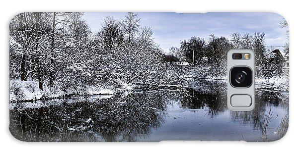 Snowy Ellicott Creek Galaxy Case