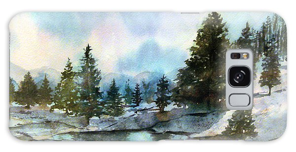 Snowy Lake Reflections Galaxy Case