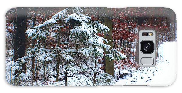 Snowy Little Fir Galaxy Case by Sandy Moulder