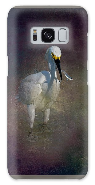 Egret Galaxy Case - Snowy Lunch by Marvin Spates