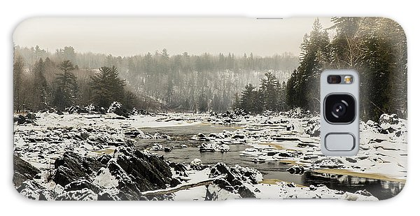Snowy Morning At Jay Cooke Galaxy Case