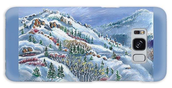 Snowy Mountain Road Galaxy Case