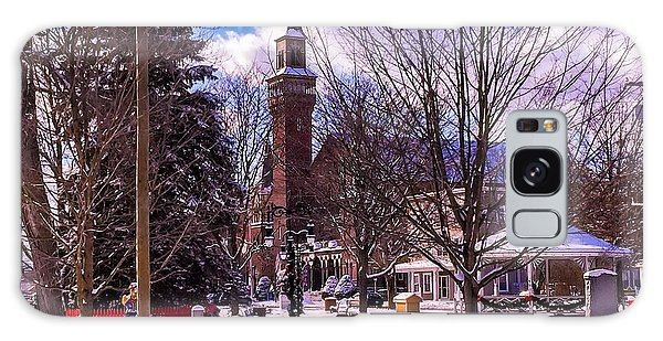 Snowy Old Town Hall Galaxy Case