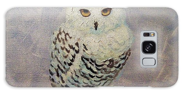 Snowy Owl Galaxy Case by Janet McDonald