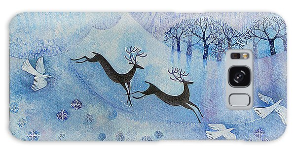 Holiday Galaxy Case - Snowy Peace by Lisa Graa Jensen
