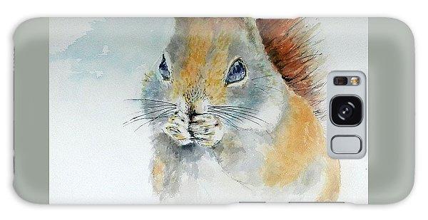 Snowy Red Squirrel Galaxy Case by William Reed