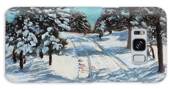 Snowy Road Home Galaxy Case
