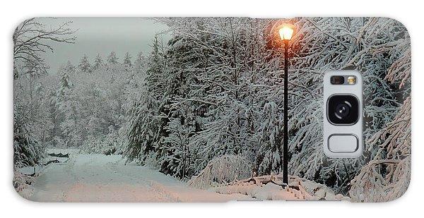 Snowy Road Galaxy Case