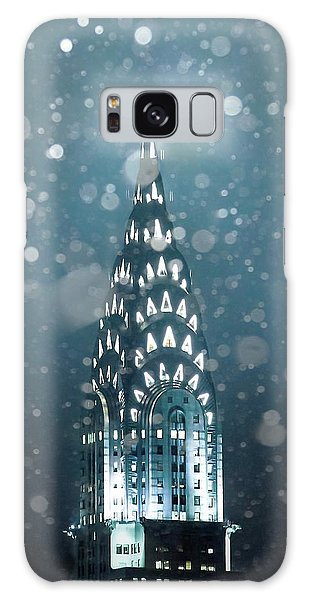 Chrysler Building Galaxy Case - Snowy Spires by Az Jackson