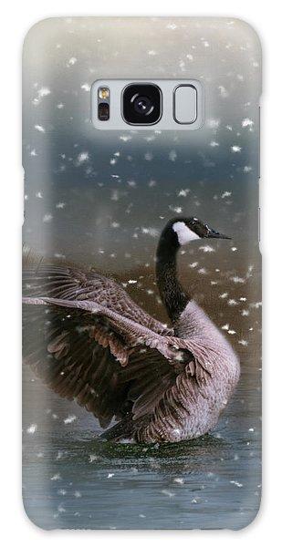 Snowy Swim Galaxy Case by Jai Johnson