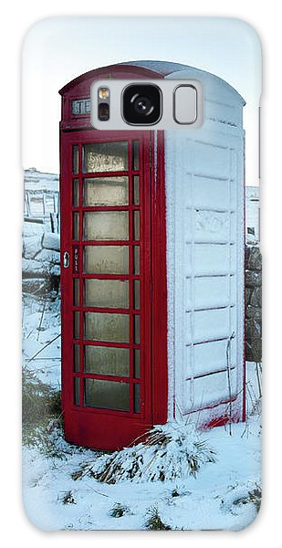 Snowy Telephone Box Galaxy Case
