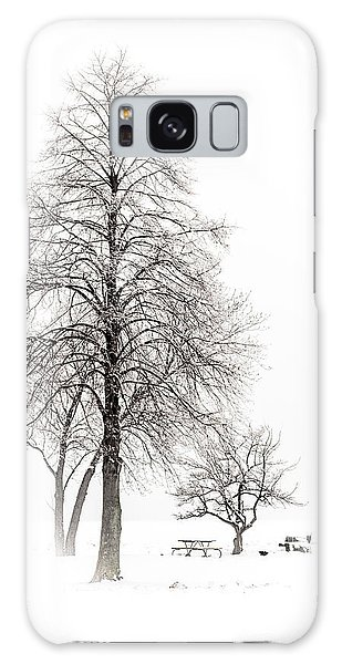 Snowy Trees Galaxy Case