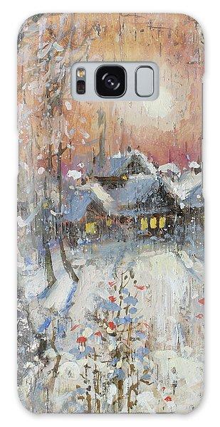 Snowy Village Galaxy Case