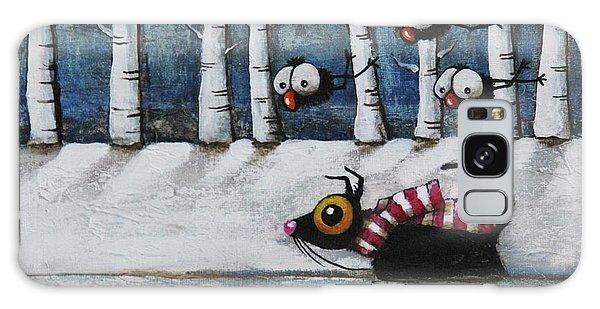 Scarf Galaxy Case - Snowy Walk by Lucia Stewart