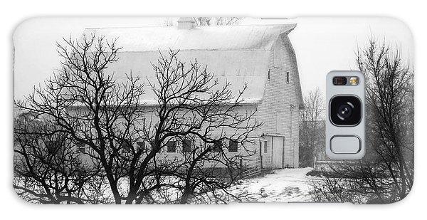 Snowy White Barn Galaxy Case