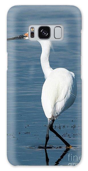 Snowy White Egret Galaxy Case