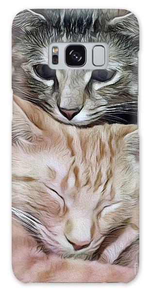 Snuggling Kittens Galaxy Case