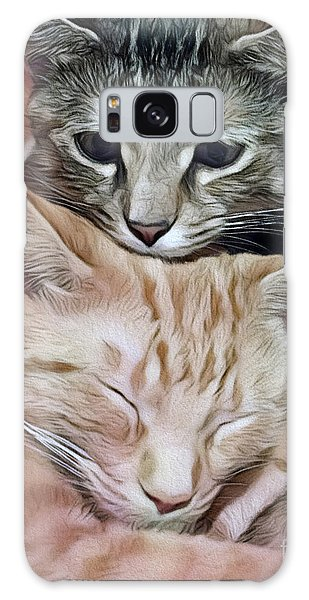 Snuggling Kittens Galaxy Case